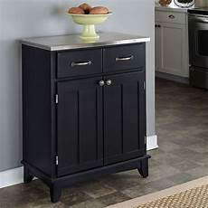black buffet with stainless top home styles furniture