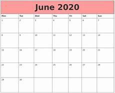 June 2020 Calendar June 2020 Calendars That Work