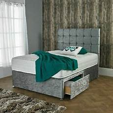 new crushed velvet divan bed set with orthopedic mattress