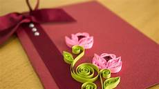 Flower Design For Cards Diy Greeting Card Paper Quilling Flower Art By Handiworks
