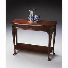 butler specialty console table in plantation cherry finish
