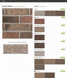 Boral Brick Chart Rustic River Union City Collection Residential Brick