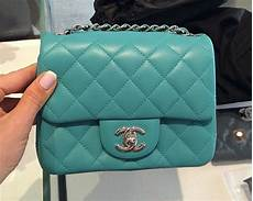 Chanel Mini Light Blue Chanel Mini Classic Flap Bags For Spring Summer 2014