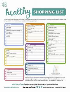 Free Shopping List Free Printable Healthy Shopping List Mums At The Table