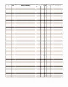 Check Ledger 39 Checkbook Register Templates 100 Free Printable ᐅ