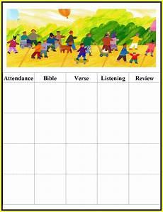 Printable Attendance Chart For Kids Children S Gems In My Treasure Box Sunday School