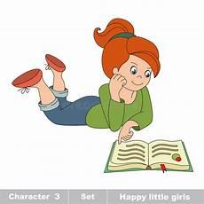 desenho cartoon vector read the book stock vector