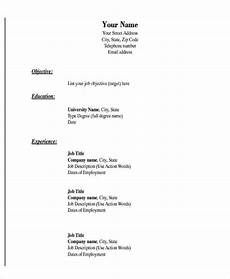 Basic Resume Templates Downloads 19 Basic Resume Format Templates Pdf Doc Free