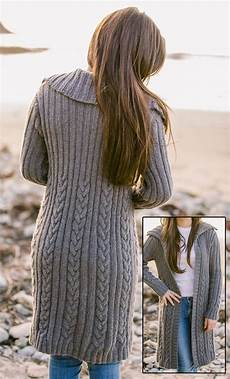 knitting pattern for joan cable coat gorgeous