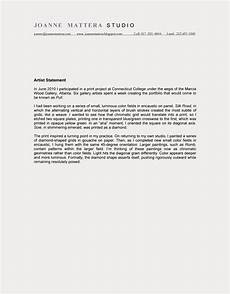 Artist Statement Sample Literacy The Writing Based Curriculum