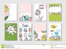 Collection Of Hand Drawn Greetings Words Hand Drawn Vector Abstract Creative Happy Easter Greeting