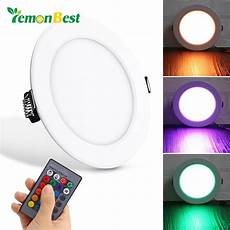 Control Panel Led Lights 10w Round Rgb Led Panel Light Concealed Recessed Ceiling