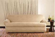 Surefit Sofa Slipcovers Leather 3d Image by Stretch Leather Two Sofa Slipcover Slipcovers For