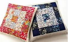 simple squares floral patchwork cushion favequilts