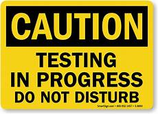Training In Progress Sign Testing In Progress Signs Testing In Progress Tags