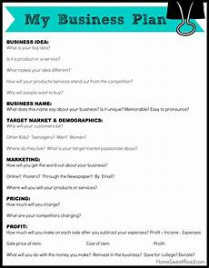 Simple Business Plan Template Business Plan For Kids Writing A Business Plan Business