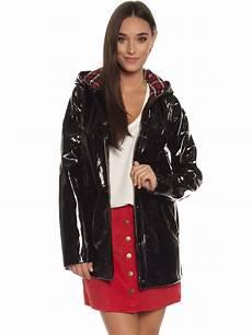 plastic coats for glamorous pvc coat in black