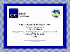Social Service Certificate Format Sample Stc Chapter Volunteer Service Certificate Thank You