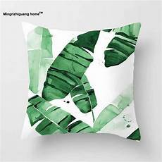 1pc tropical plants green leaves monstera cushion covers