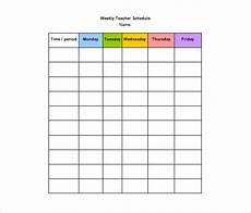 Teacher Weekly Schedule Template 11 Teacher Schedule Templates Docs Excel Pdf Free