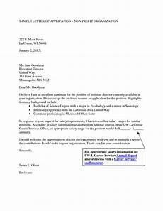 Nonprofit Cover Letter Best Photos Of Cover Letter Non Profit Organization