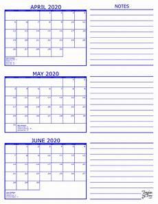 planner june 2020 june 2020 3 month calendar 2020