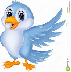 Cute Blue Images Cute Cartoon Blue Bird Waving Stock Vector Illustration
