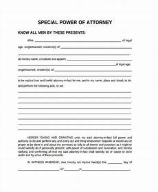 Special Power Of Attorney Sample Free 35 Power Of Attorney Forms In Pdf