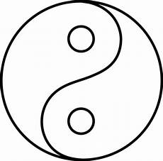 blank yin yang line free images clipart free image 41883