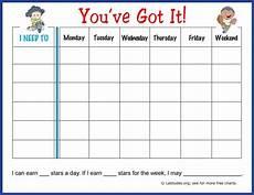 And Doug Behavior Chart Free Weekly Behavior Chart You Ve Got It Acn Latitudes