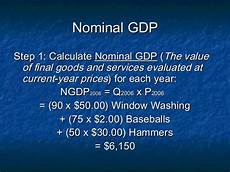 Formula For Nominal Gdp How To Calculate Nominal Gdp Real Gdp And The Gdp Deflator
