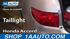 2012 Honda Accord Light Removal How To Install Replace Taillight Honda Accord Sedan 4 Door
