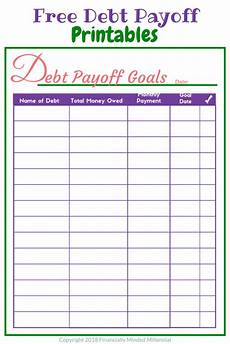 Debt Organizer Template Easy To Use Free Printable Debt Tracker To Help Get Out Of