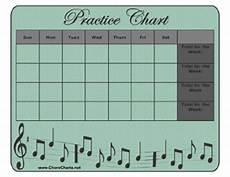 Practice Charts For Music Students Printable Musical Instrument Practice Chart