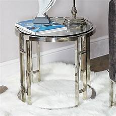 atticus chrome and tempered glass end side table picture