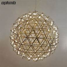 Acrylic Ball Pendant Light Gold Chrome Stainless Steel Firework Ball Pendant Light