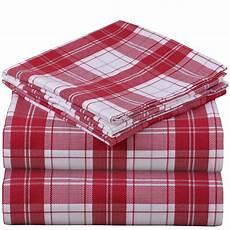 mellanni king flannel sheet set 4 pc printed 100