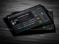 Dj Business Cards Mobile Digital Dj Business Card By Vinyljunkie Graphicriver
