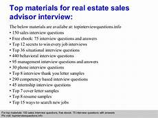 Real Estate Interview Questions Real Estate Sales Advisor Interview Questions And Answers