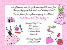 Glamour Girl Makeup Dress Up Birthday Party Invitations 1