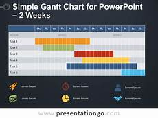 Simple Free Gantt Chart 2 Weeks Simple Gantt Chart For Powerpoint Presentationgo Com