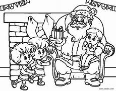 free printable santa coloring pages for