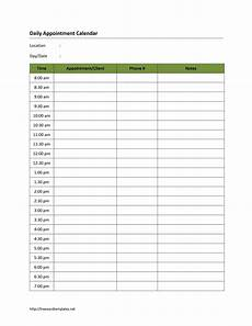 Daily Calendars Daily Appointment Calendar Template 2019 Daily Calendar