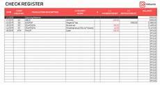 Excel Checkbook Template Excel Checkbook Register Template Printable Checkbook