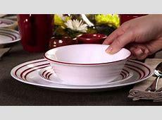 Corelle   Ruby Red 16 Piece Dinnerware Set   YouTube