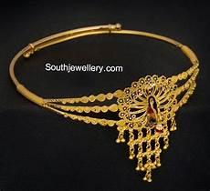 Arm Vanki Designs In Gold Peacock Gold Armlet Jewellery Designs