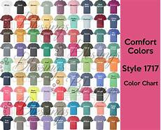 Comfort Colors Long Sleeve Color Chart Comfort Colors 1717 Color Chart Digital File Garment Dyed
