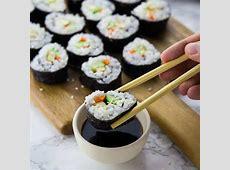 Easy Vegan Sushi Recipe   Vegan Heaven