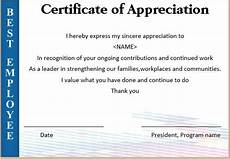 Appreciation Certificates For Employees Certificate Of Appreciation For Employees Task List