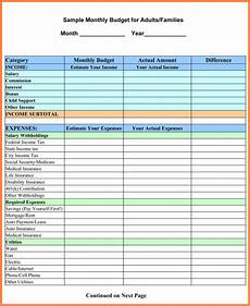 How To Make A Household Budget Spreadsheet 9 Sample Household Budget Spreadsheet Excel